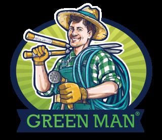 GREEN MAN FAREBNY transparent pozadie